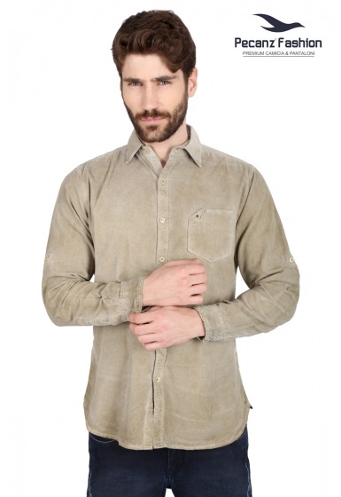 Slim Fit Corduroy Shirt - <small>S_7481_5</small>
