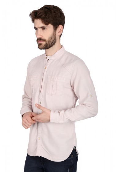 Slim Fit Solid Shirt - <small>S_7495_E_2</small>