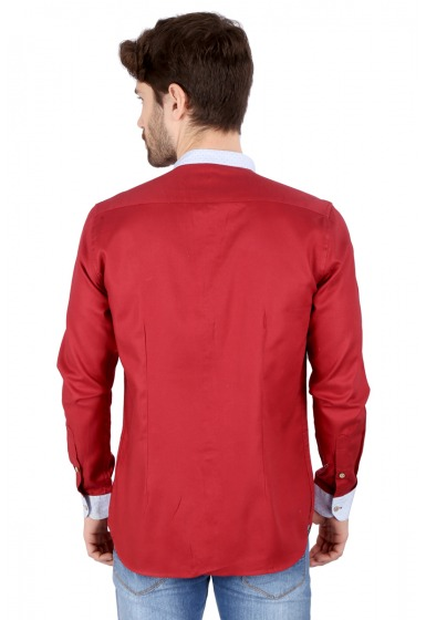 Slim Fit Solid Shirt - <small>S_7495_F_6</small>