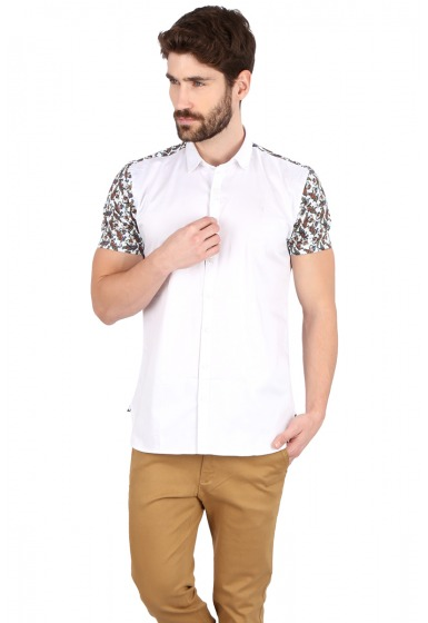 Slim Fit Designer Shirt - <small>S_7671_1</small>