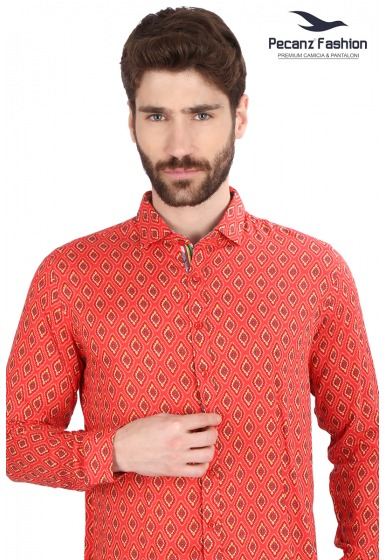 Slim Fit Printed Shirt - <small>S_7717_2</small>