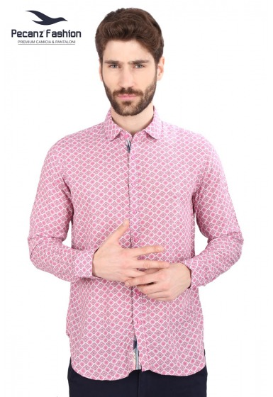 Slim Fit Printed Shirt - <small>S_7738_1</small>