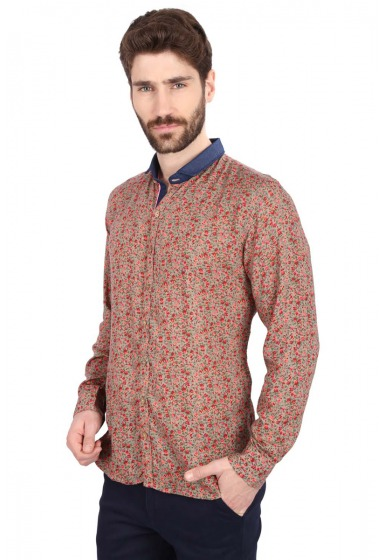 Slim Fit Printed Shirt - <small>S_7797_1</small>