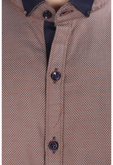 Slim Fit Designer Shirt - <small>S_7996_3</small>