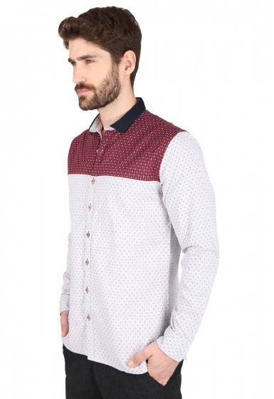 Slim Fit Designer Shirt - <small>S-9011_1</small>